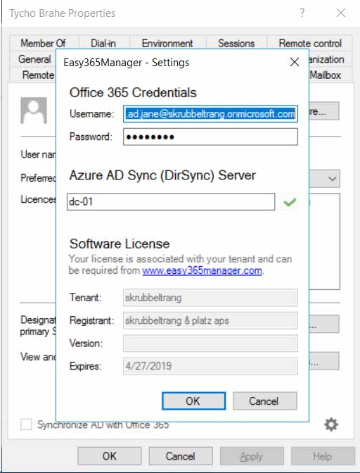 Easy365Manager Configure Azure AD Connect for immediate synchronization of changes