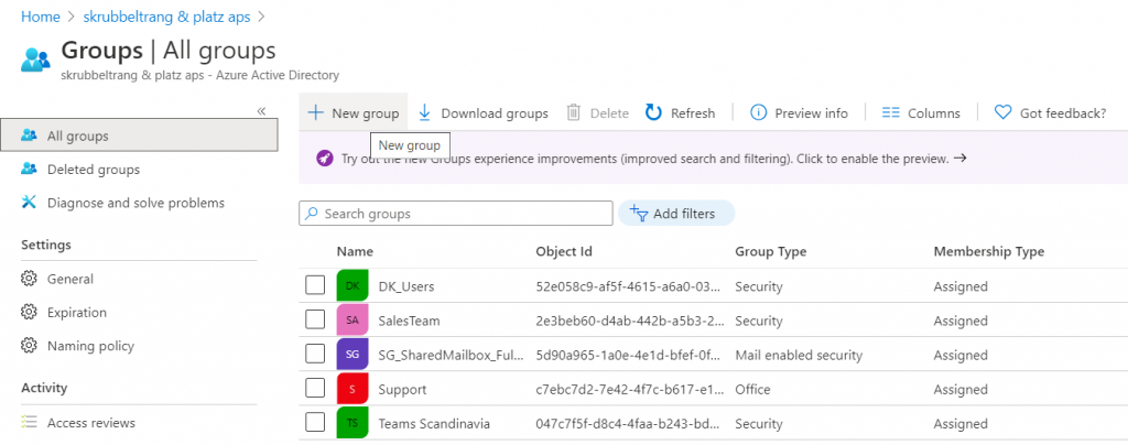 Create Office 365 Dynamic Group
