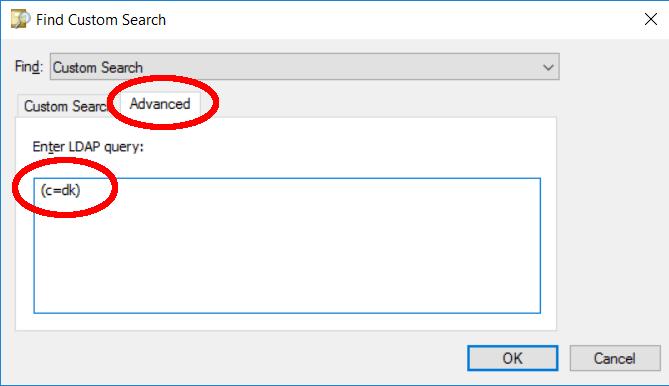 LDAP advanced query