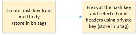 DKIM signature generation at sender