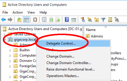 Delegate control in AD DynamicGroups