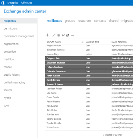 Exchange Admin Center (EAC)