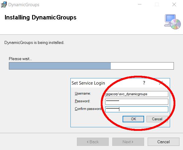 Service Credentials DynamicGroups