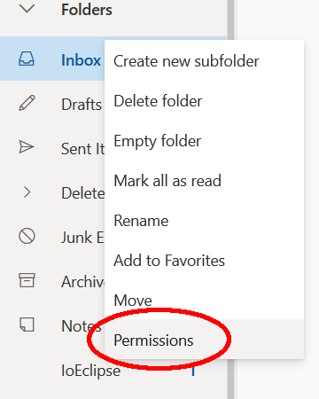 Add-MailboxFolderPermission