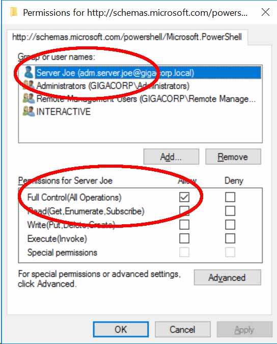 PowerShell Remote Access DACL