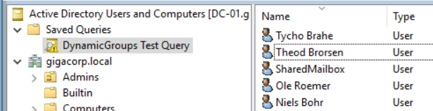 LDAP query result