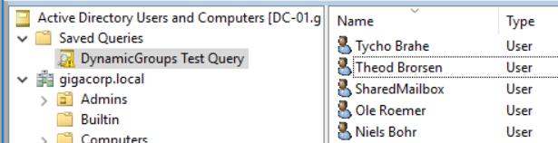 LDAP query result