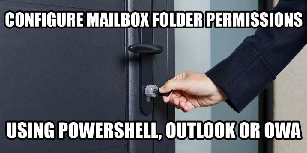 Set-MailboxFolderPermission