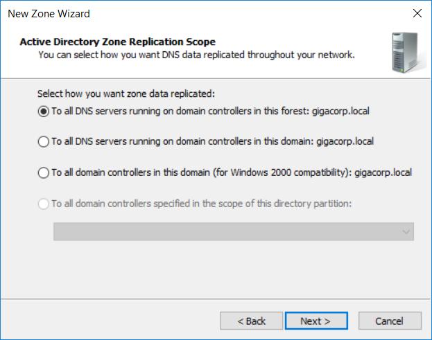 DNS Stub Zone