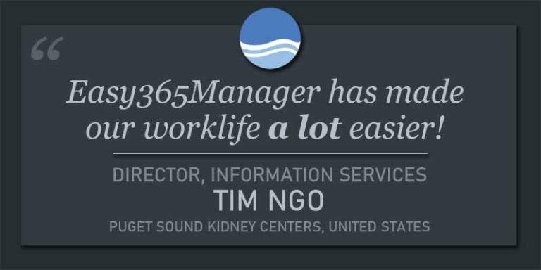 Easy365Manager Testimonial