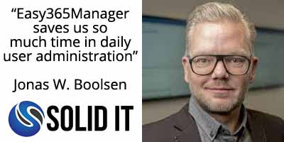 Easy365Manager testimonial SolidIT