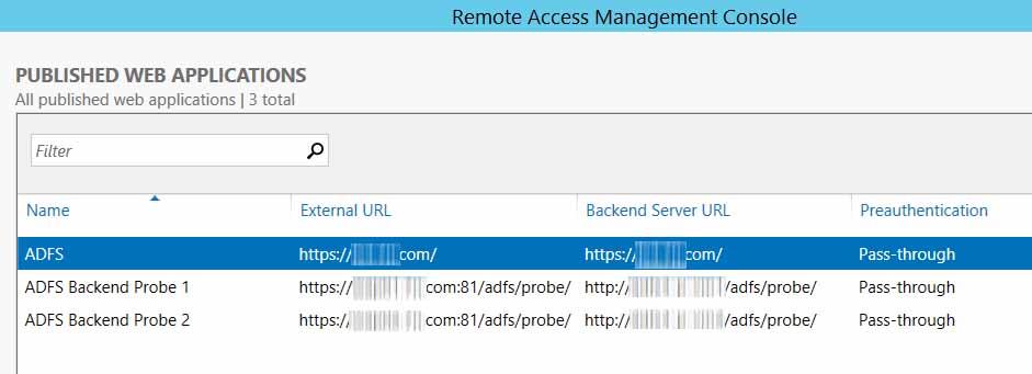 High availability ADFS WAP configuration