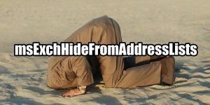 How to configure msExchHideFromAddressLists